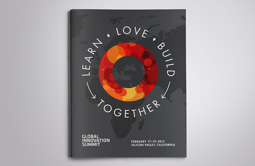 Bill Rogers Design - Global Innovation Summit - Program Book Design - Agenda - Brand Identity Design - Event Graphic Design - 2015 Program Book Cover