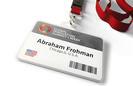 Bill Rogers Design - Global Innovation Summit - Brand Identity Design - Event Badge