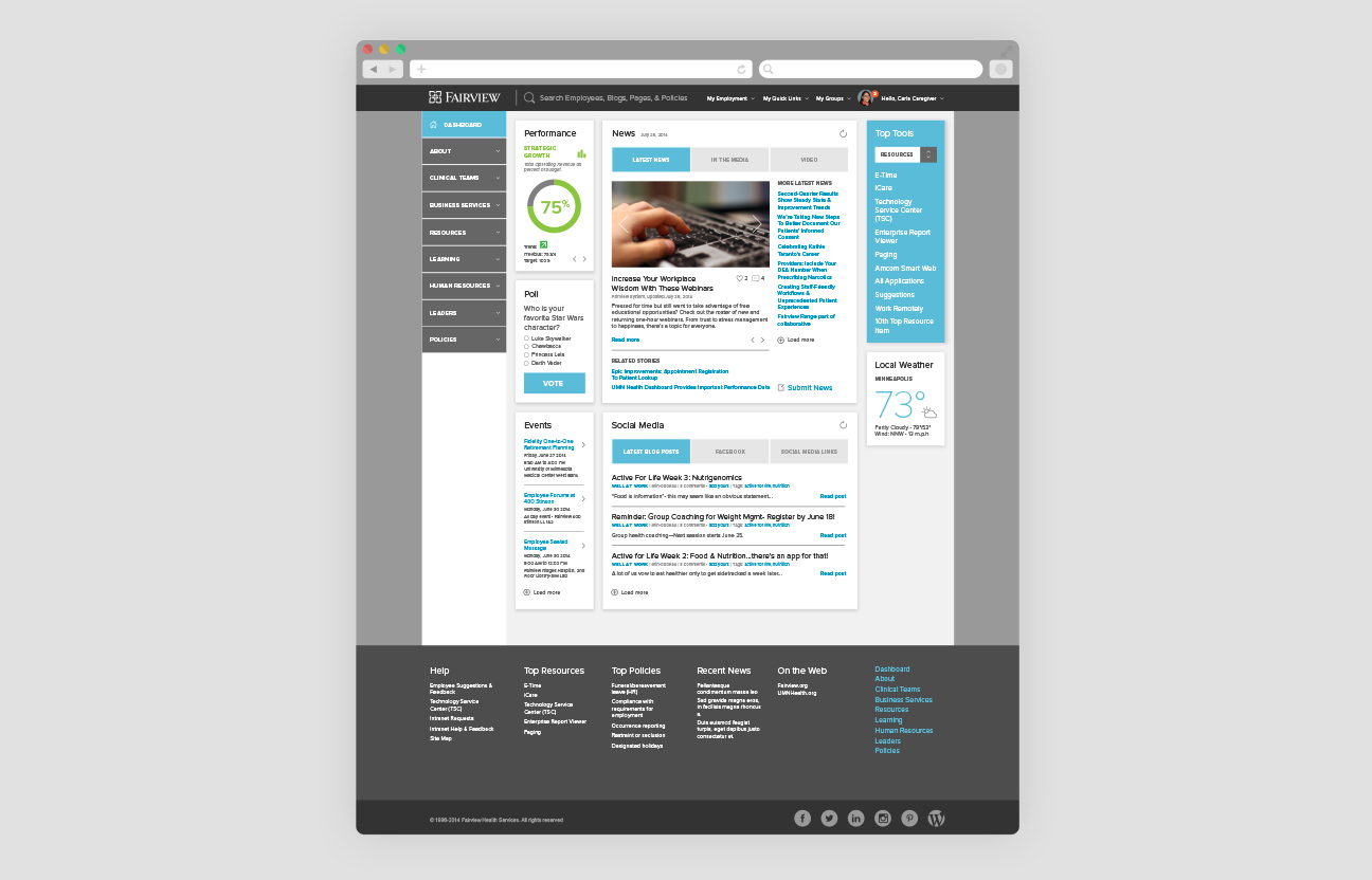 Fairview Intranet - Full Dashboard