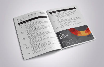 Bill Rogers Design - Global Innovation Summit - Program Book Agenda Design - Brand Identity Design - Event Graphic Design