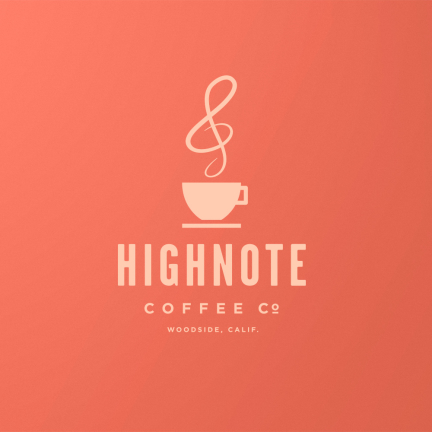 Bill Rogers Design - High Note Coffee Logo - Logo Design - Brand Identity Design