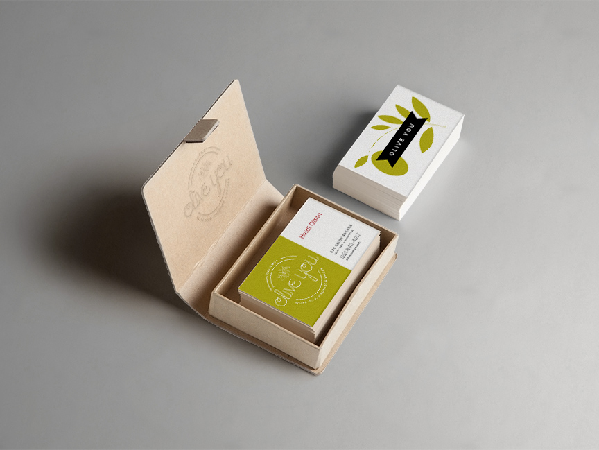 Bill Rogers Design - Olive You - Business Card Design - Brand Identity Design