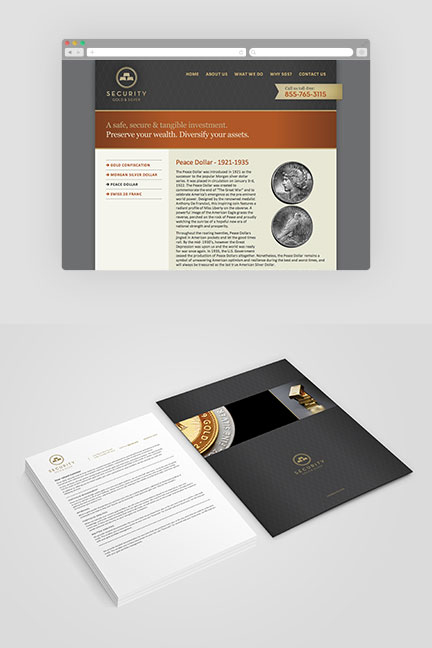 Bill Rogers Design - Security Gold & Sliver - Website and Stationary Design - Brand Identity Design