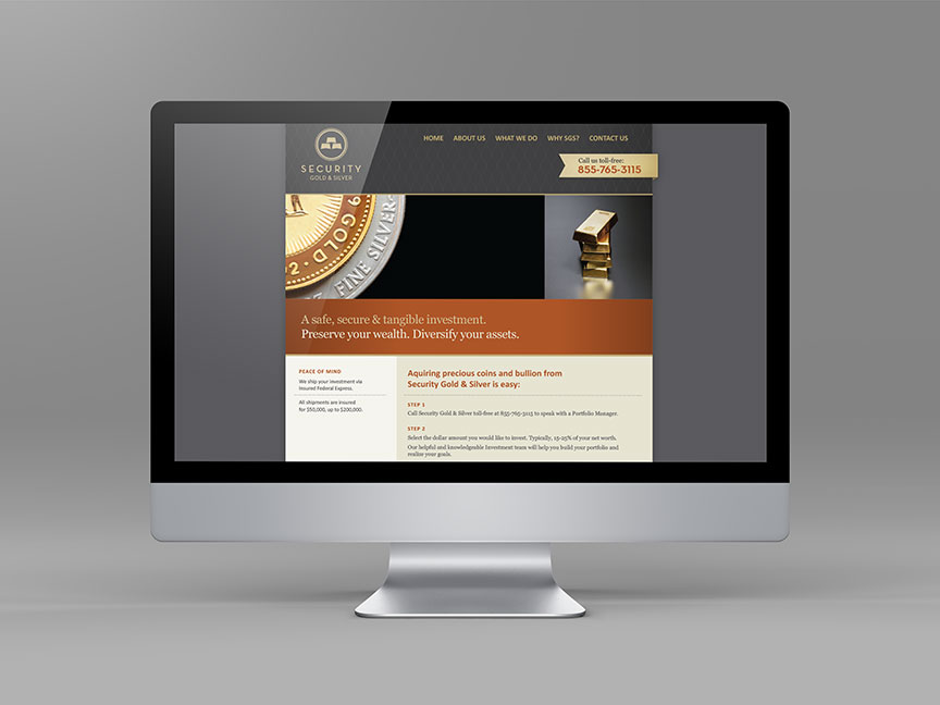 Bill Rogers Design - Security Gold & Sliver - Web Design - Brand Identity Design