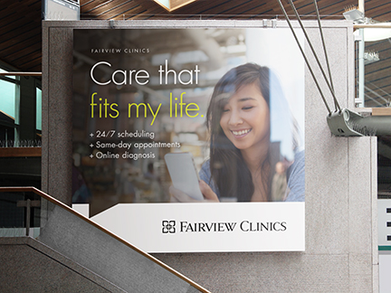 Bill Rogers Design - Fairview Advertising - Fairview Clinics - Outdoor Advertising - Campaign Ads