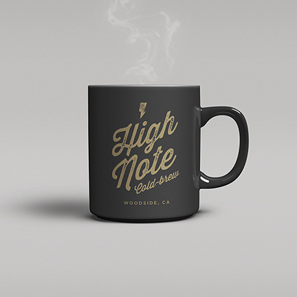 Bill Rogers Design - High Note Coffee - Cold Brew Logo Mug