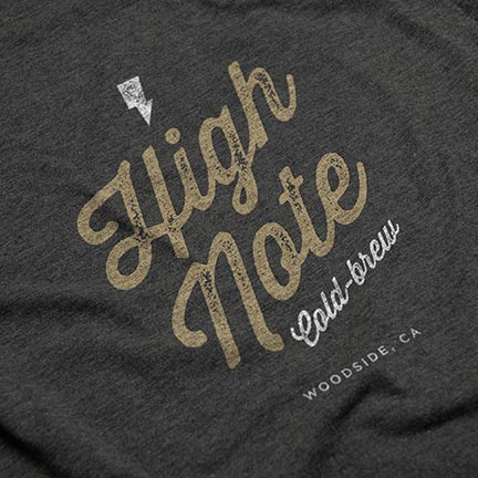 Bill Rogers Design - High Note Coffee - Cold Brew Tshirt Detail