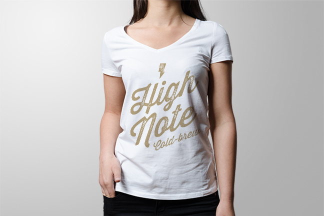 Bill Rogers Design - High Note Coffee - Cold Brew Tshirt