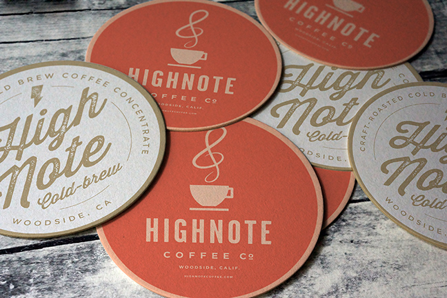 Bill Rogers Design - High Note Coffee - Coasters