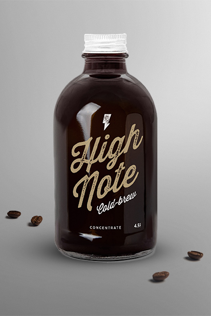 Bill Rogers Design - High Note Coffee Cold-brew bottle - Packaging Design