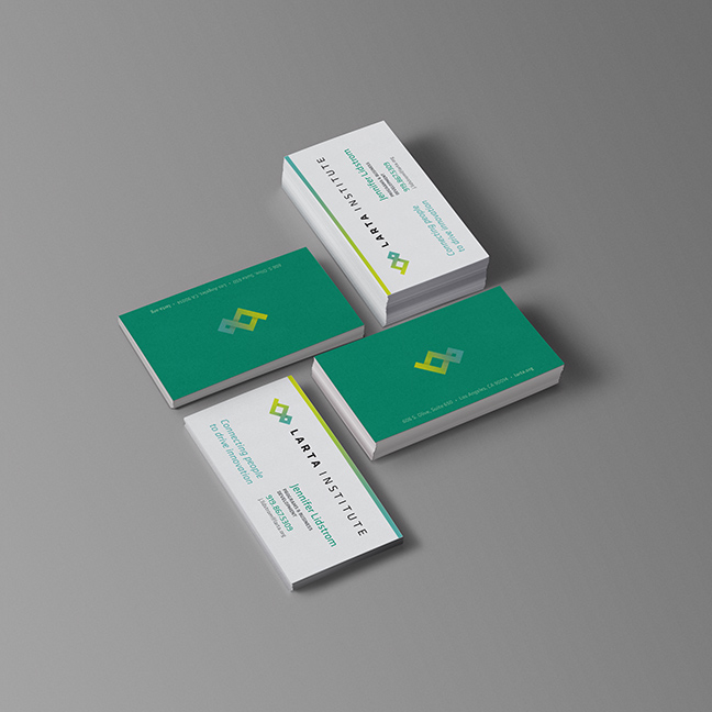 Bill Rogers Design - Larta Institute - Business Card Design - Brand Identity Design