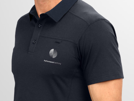 Bill Rogers Design - Performance Harmony - Integrated Brand Identity Design - Corporate Logo - Polo Shirt