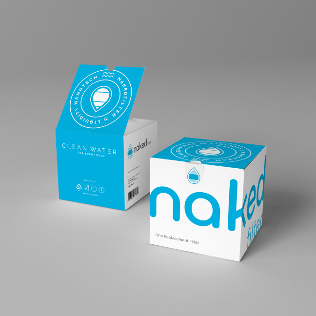 Bill Rogers Design - Naked Filter - Retail Filter Box Packaging