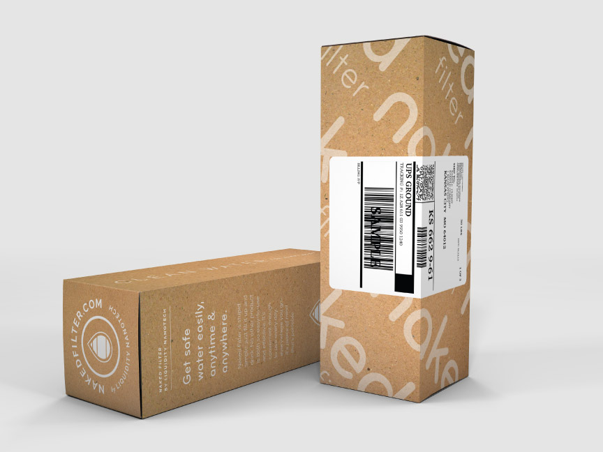 Bill Rogers Design - Naked Filter -Shipping Box Packaging
