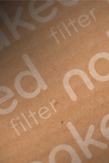 Bill Rogers Design - Naked Filter -Shipping Box Packaging Detail