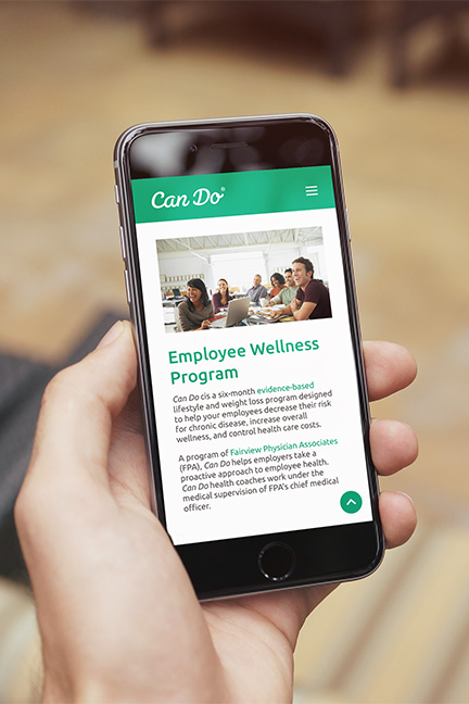Bill Rogers Design - Can Do - Responsive Website Design - Employee Wellness Program - iPhone