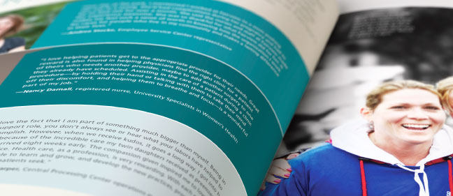 Bill Rogers Design - Fairview Magazine - Spread Detail - Publication Editorial Design - My Faiview Story & Photo Finish