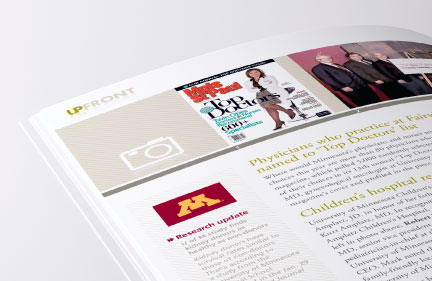 Bill Rogers Design - Fairview Magazine - Spread Detail - Publication Editorial Design - UpFront