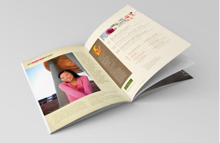 Bill Rogers Design - Fairview Magazine - Spread Detail - Publication Editorial Design - Masthead