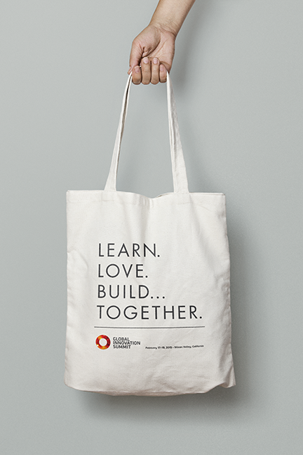 Bill Rogers Design - Global Innovation Summit - Brand Identity Design - Event Tote Bag