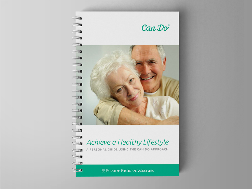 Bill Rogers Design - Can Do - Fairview Physician Associates - Program Book Cover Design Detail - Brand Identity Design