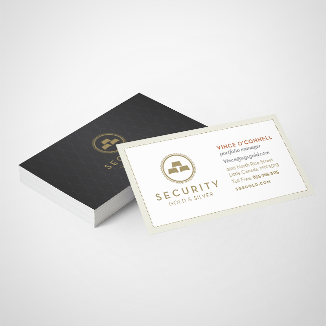 Bill Rogers Design - Security Gold & Silver - Business Card Design - Brand Identity Design