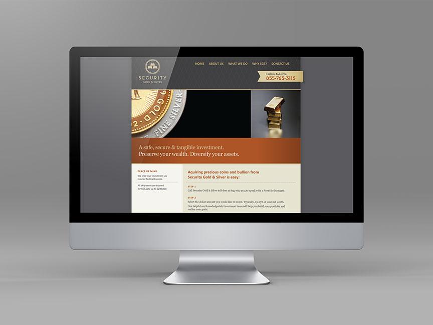 Bill Rogers Design - Security Gold & Sliver - Web Design - Brand Identity Design