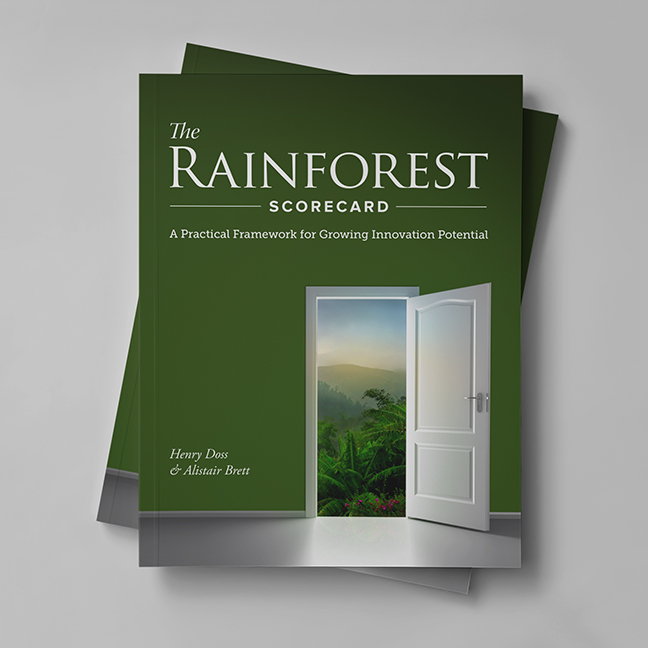 Bill Rogers Design - Regenwald - Rainforest Scorecard Book - Book Cover Design - Brand Identity Design