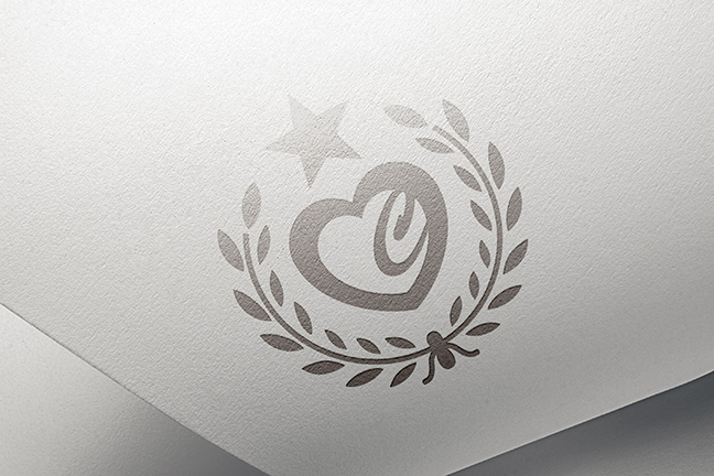 Bill Rogers Design - Fairview Foundation - Champions of Care Envelope - Foil Stamp Detail